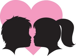 Clipart Girl And Boy Face.