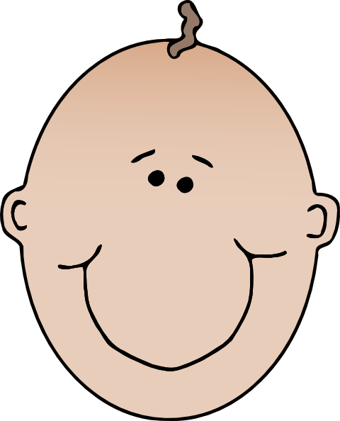 Cartoon Of Boy And Girl Faces Clipart.