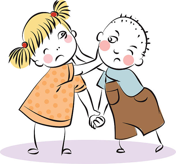 Siblings Fighting Clip Art, Vector Images & Illustrations.