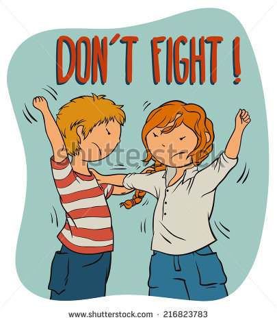 Two Girls Fighting Stock Vectors, Images & Vector Art.