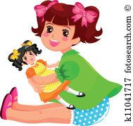 Girl doll Clipart and Illustration. 4,501 girl doll clip art.