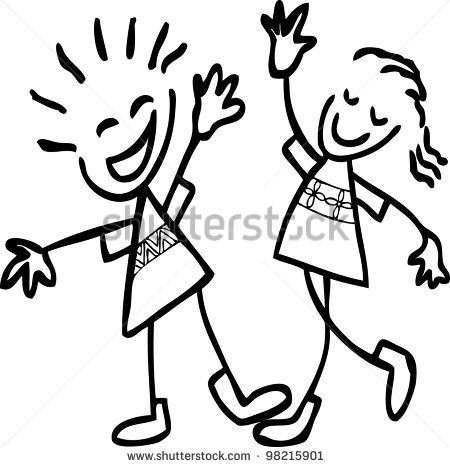 Girl And Guy Bestfriends Clipart.