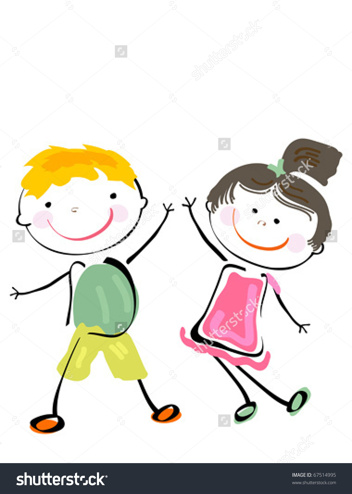 girl and guy bestfriends clipart - Clipground