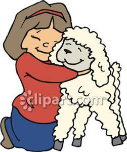 Hugging A Lamb.