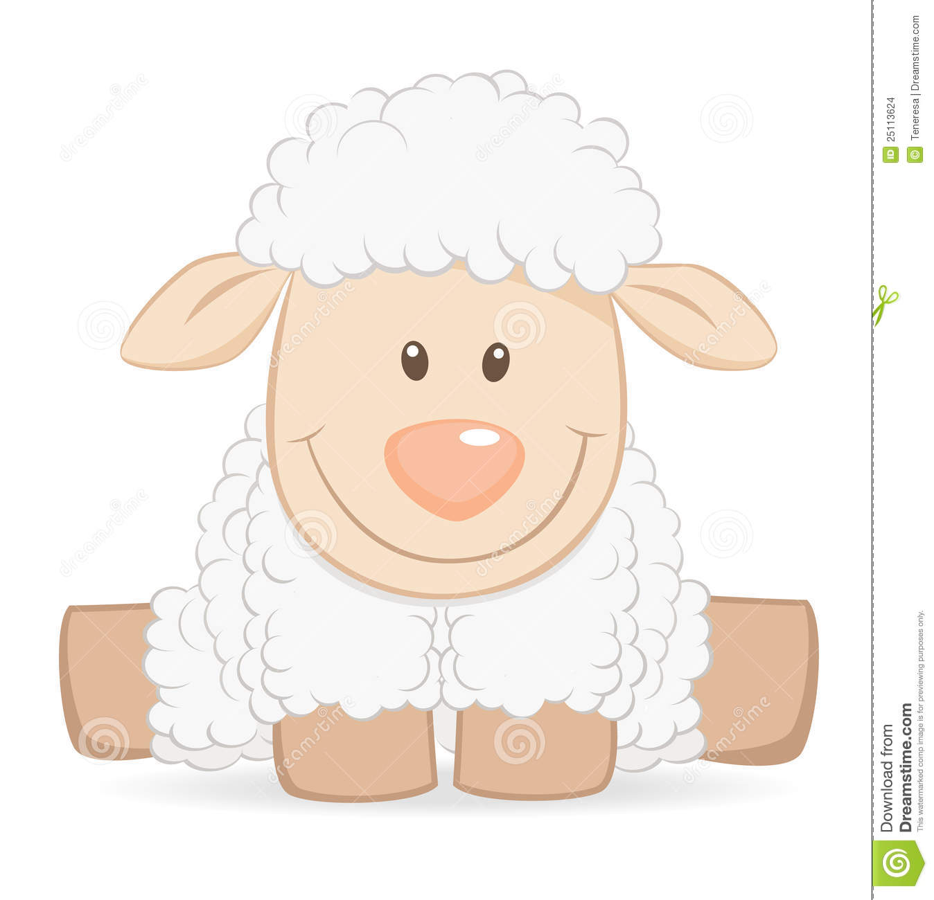Girl With Sheep Clipart