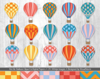 SALE 100 balloon clipart rainbow balloon clipart birthday digital.