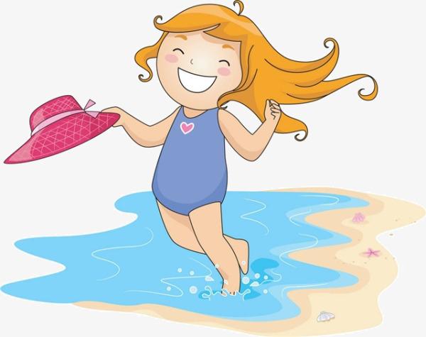 Beach Girl Clipart.