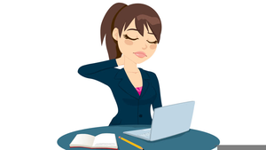 Girl At Desk Clipart.