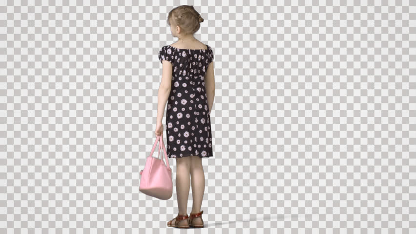 Little Girl Standing with Pink Vidéos de stock (100 % libres de droit)  10264199.