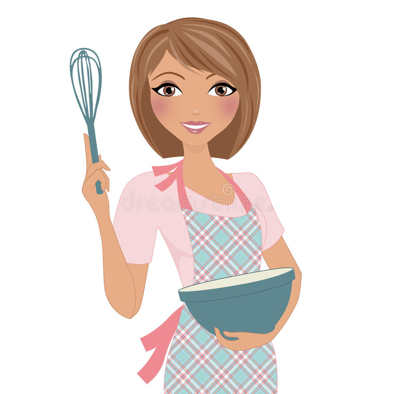 Lady Baking Clipart.
