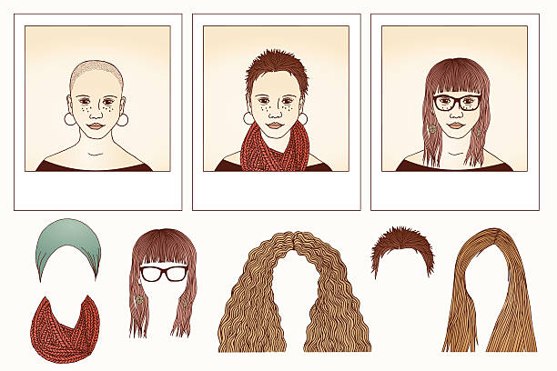 Shaved Head Woman Clip Art, Vector Images & Illustrations.