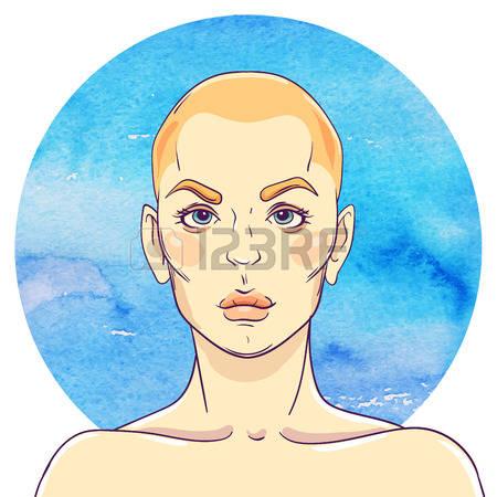 449 Bald Girl Stock Vector Illustration And Royalty Free Bald Girl.