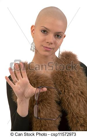 Picture of Bald girl.