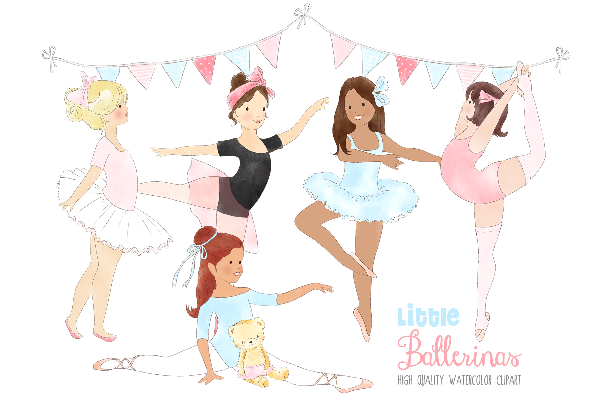 Ballerinas Ballet Dancing Girl Clipart.