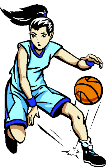Girl Basketball Player Clipart Shooting.