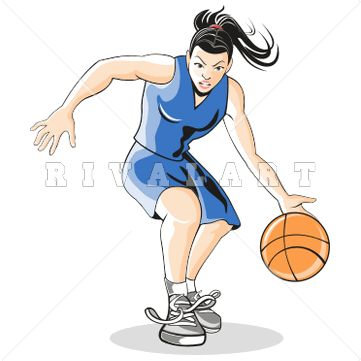 Sports Clipart Image of Girl Basketball Player Graphic http://www.