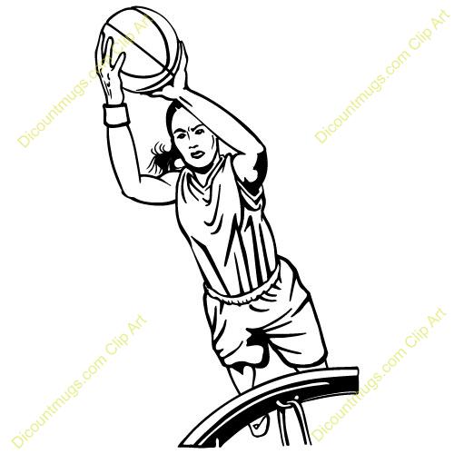 Girl Basketball Player Clipart Shooting.