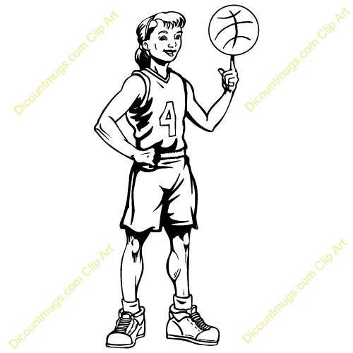 Girl Shooting Basketball Clip Art Pictures to Pin on Pinterest.