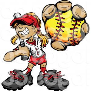 Exclusive Girls At Bat Clipart Draw.