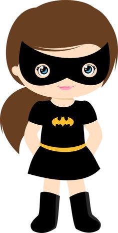 Bat Girl Clipart.