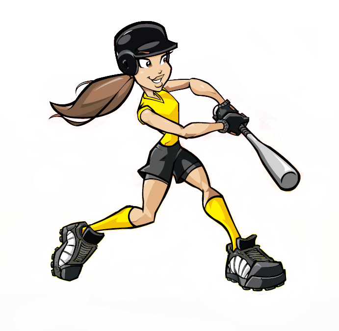 Showing post & media for Cartoon softball hitter.
