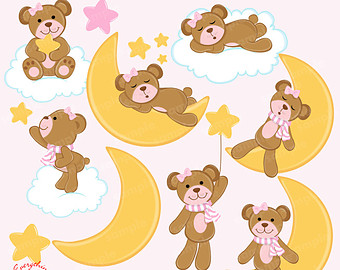 Girl bear clipart.
