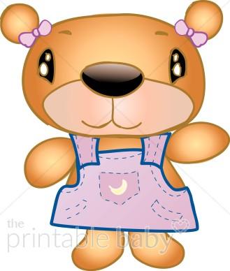 Girl Feeding Bear Clipart.