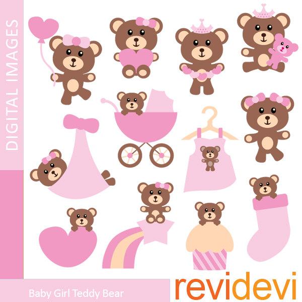 Baby Girl Bear Clipart.