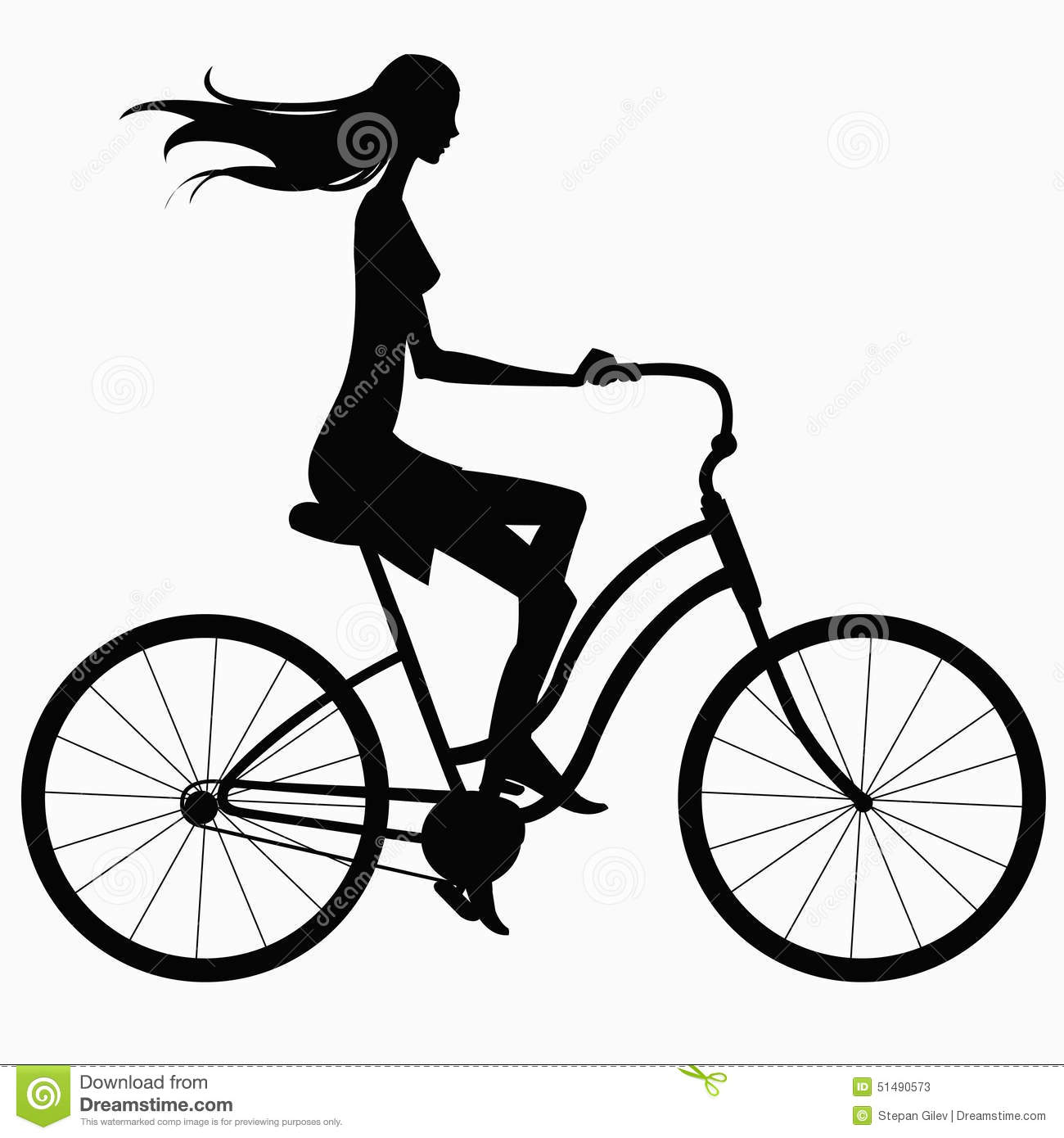 girl biking clipart black and white - Clipground for Bicycle Clipart Black And White  75tgx