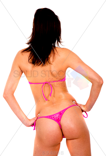 Stock Photo of Beautiful bikini girl isolated over a white background.