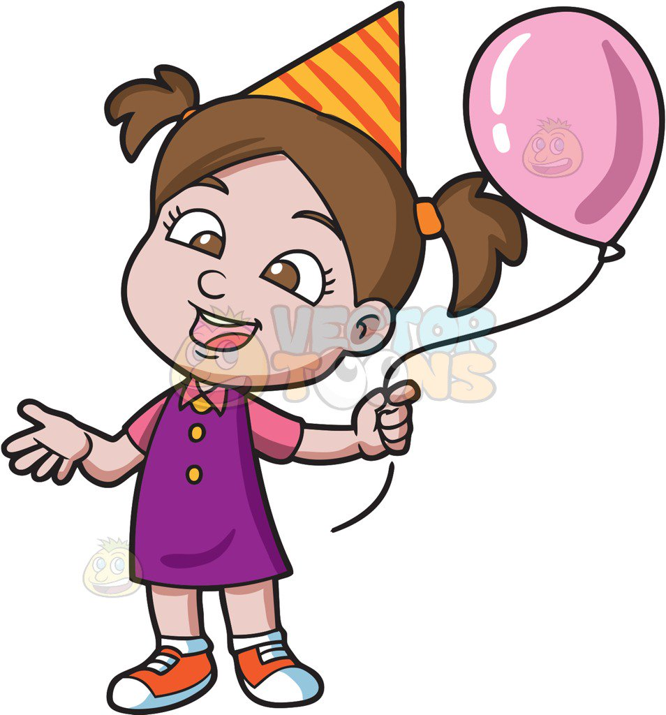 Girl birthday clipart 5 » Clipart Station.