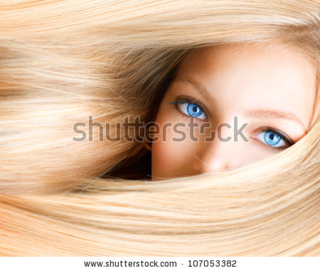 Blonde Hair Stock Images, Royalty.