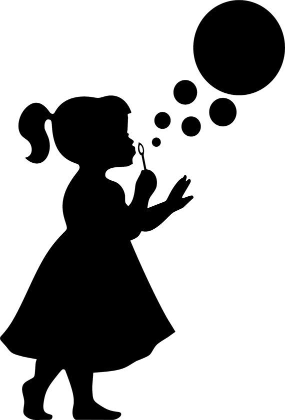little girl silhouette head clipart - Clipground