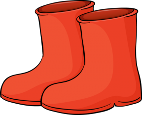 Girls Boot Clipart.