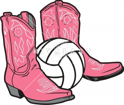 Girls Volleyball Clip Art.