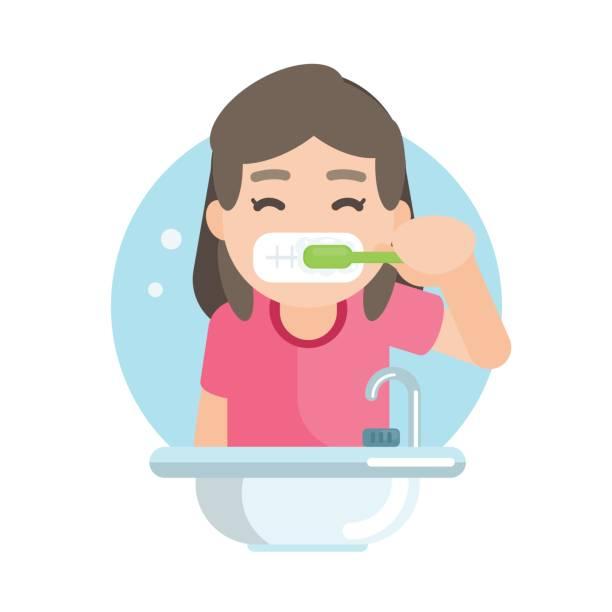 Girl brushing teeth clipart 8 » Clipart Station.