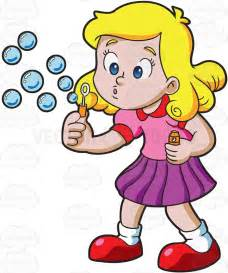 girl bubble blowing clipart - Clipground