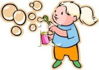 Clipart Blowing Bubbles.