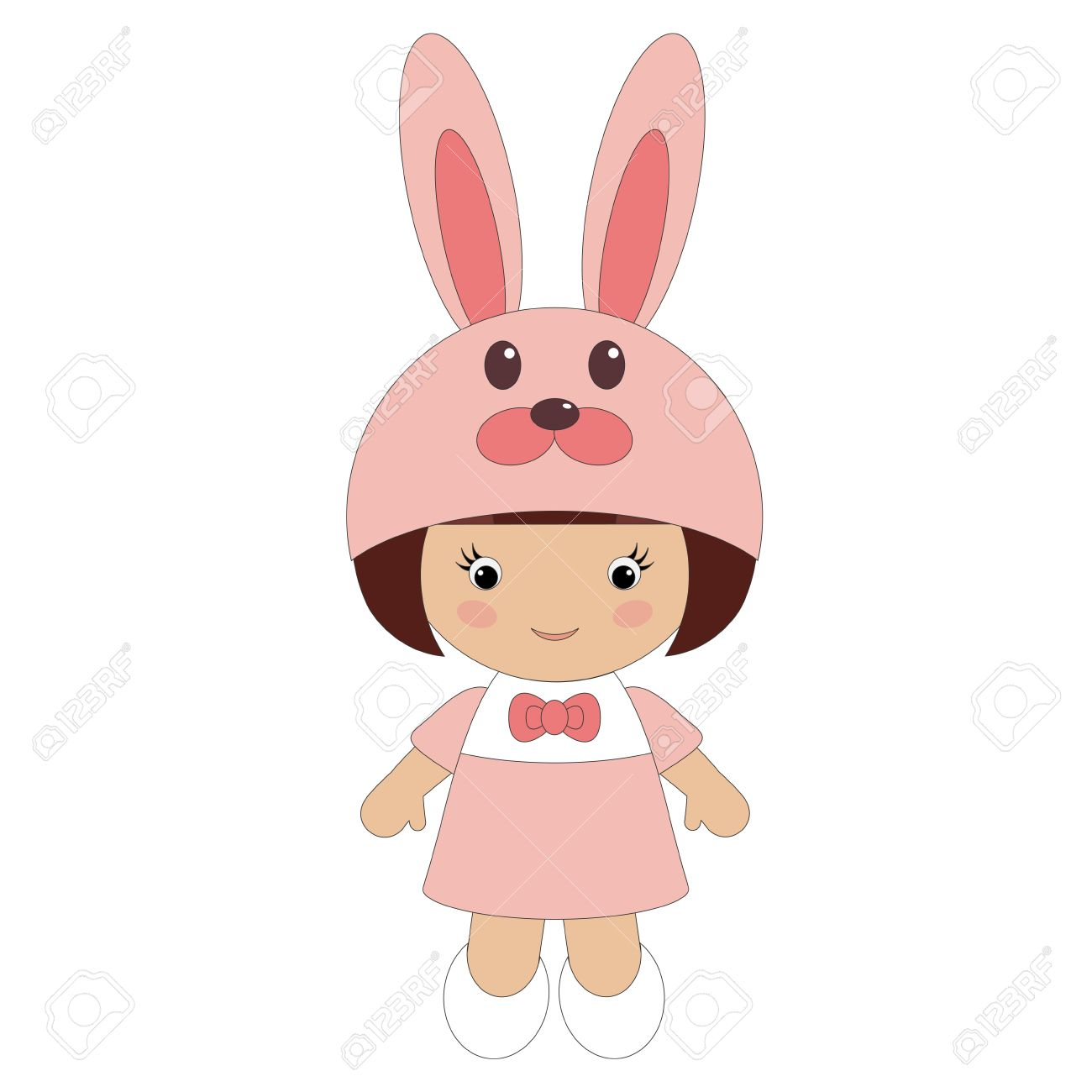 Little girl in bunny costume.