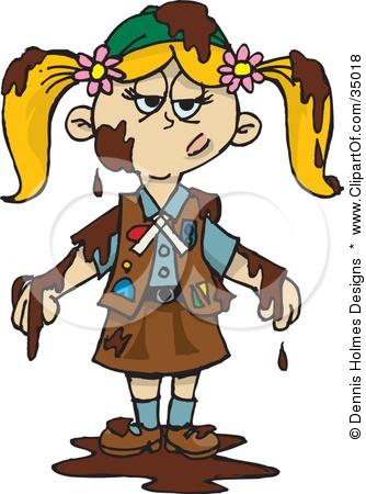 Dirty Girl Clipart.