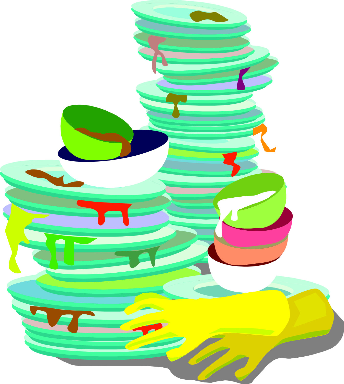 Dirty Dish Clipart.