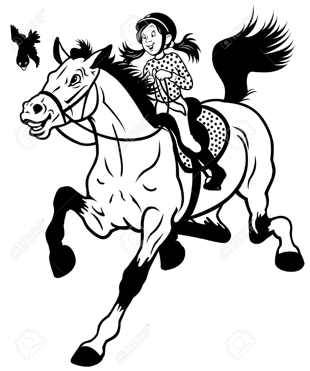488 Horse Riding Girl Cliparts, Stock Vector And Royalty Free.