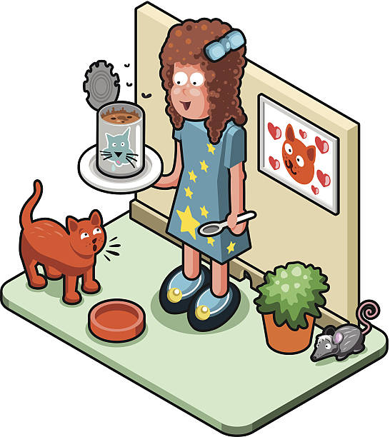 Cat And Indoors Clip Art, Vector Images & Illustrations.