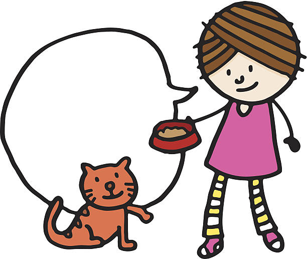 Cat Food Woman Clip Art, Vector Images & Illustrations.
