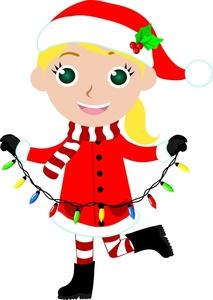 Girl christmas clipart.