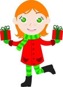 girl christmas clipart #3