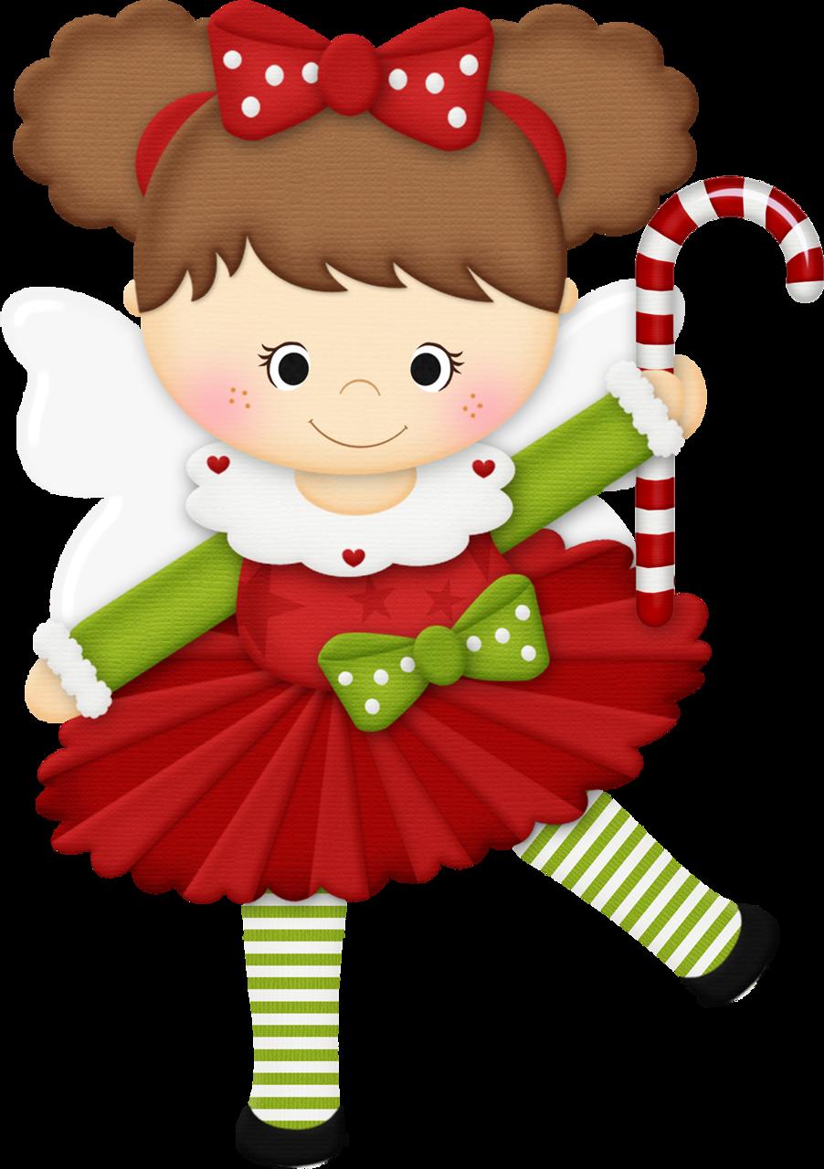 CHRISTMAS LITTLE GIRL CLIP ART.