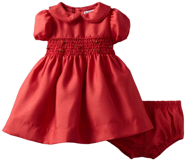 Girl Christmas Dress Clipart.