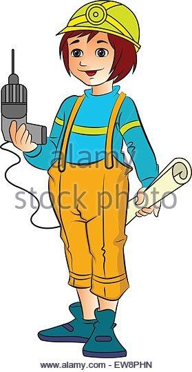 girl civil engineer clipart #6