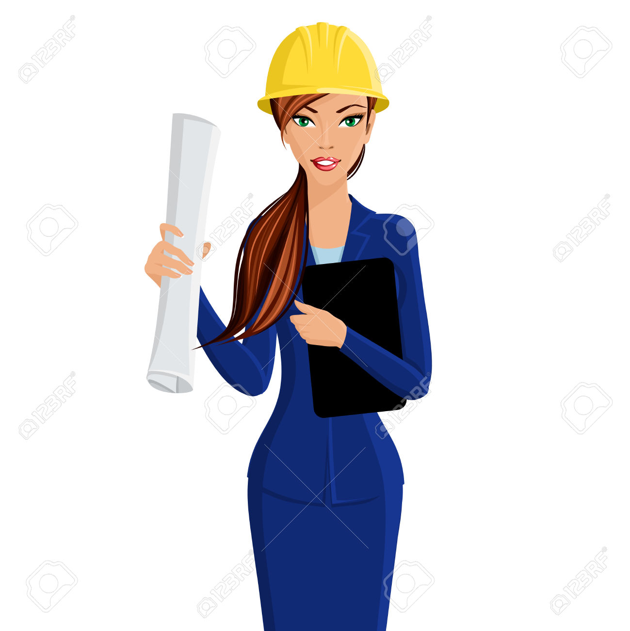 girl civil engineer clipart #19
